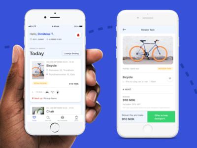 Bringers App product design design ux app app  design ios
