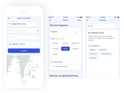 Bringer App Search Settings settings ios app ui