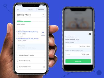 App for Bringers (drivers) product design product mobile app ios ux design ui