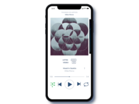 Spotify For iPhone X Light Theme. Colorblind friendly.