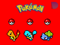 The first 3 Pokémon designed in Figma.