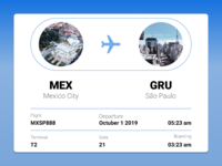 Daily UI Challenge 024 Boarding pass made with Figma