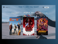 Daily UI Challenge 025 TV APP YOU WANT