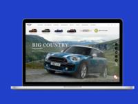 Mini Cooper Mexico Website Landing page
