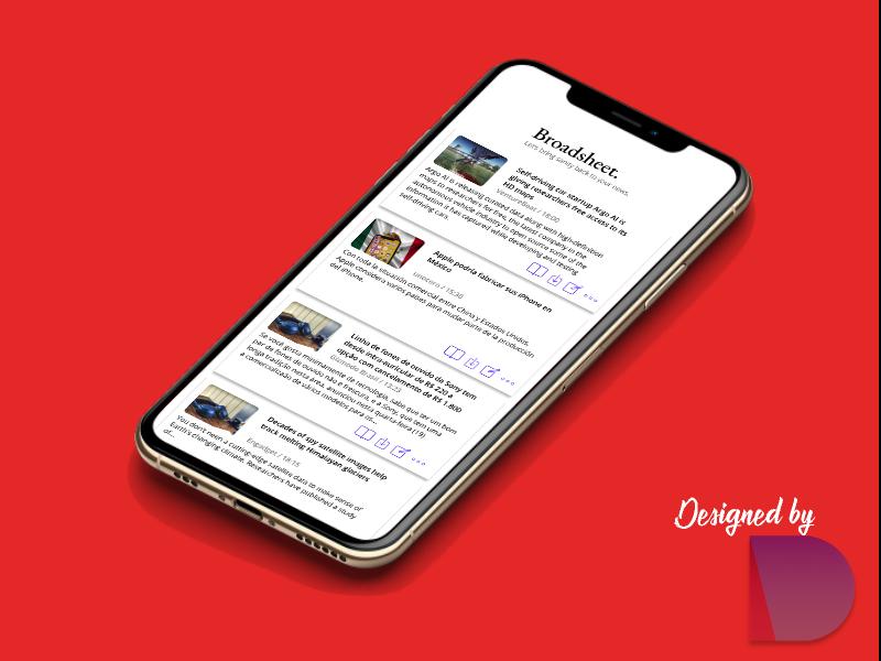 News app for iOS clean design clean ui clean news news app ui daily ui challenge daily challange daily ui figma design