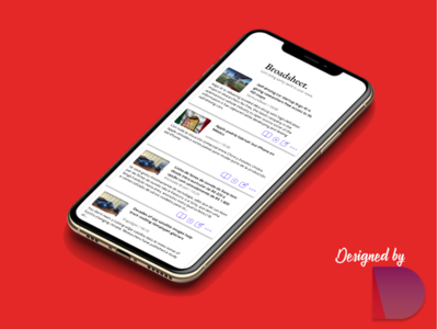 News app for iOS