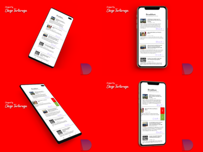 Mockup iOS iPhone XS and Android for S10 News App