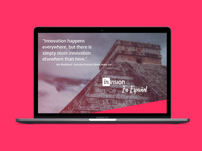 Mockup of a ficticious InVision En Español Landing Page