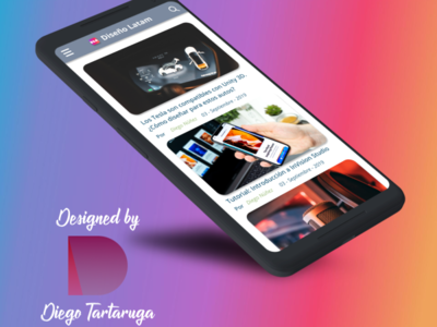 Mobile website concept.