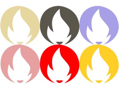 Paris Logo Different Colors