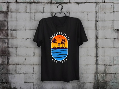 Hawaii T shirt t-shirt designer teespring tees t-shirt design teesdesign merch by amazon shirts custom t-shirt design illustration typography