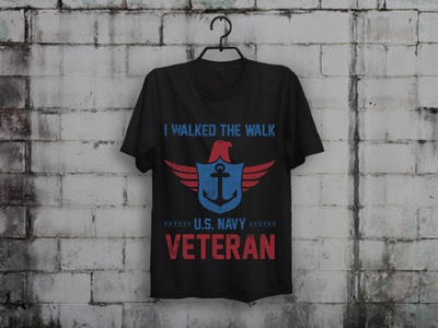 Walked The Walk T shirt Design veterans day veterans veteran teespring t-shirt designer t-shirt design merch by amazon shirts illustration custom t-shirt design typography