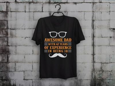 Awesome Dad T shirt apparel fathersday father t-shirt designer illustration typography teespring merch by amazon shirts custom t-shirt design