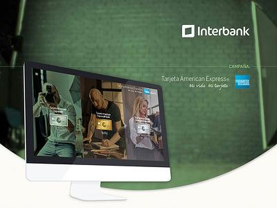 American Express web design interbank landing