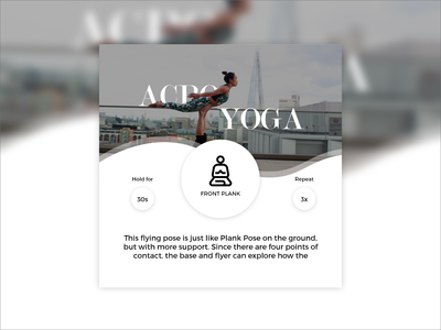 Daily UI Challenge Day #62 - Workout typography design clean ux ui dailyui