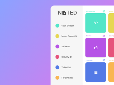 Daily UI Challenge Day #65 - Note Widget vector design clean gradient app ux ui dailyui