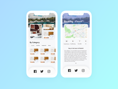 Daily UI Challenge Day #67 - Hotel Booking design clean mobile app ux ui dailyui