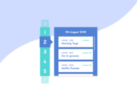 Daily UI Challenge Day #71 - Schedual