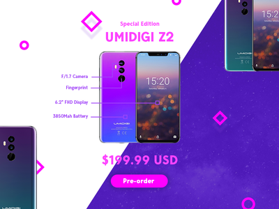 Daily UI Challenge Day #75 - Pre-order design clean gradient mobile ux ui dailyui
