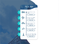 Daily UI Challenge Day #79 - Itinerary