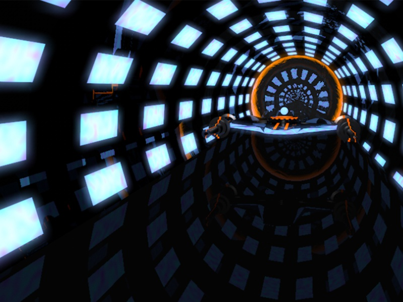 Neon Nitro 3d space ship low poly environment animation motion graphics shiny black glow