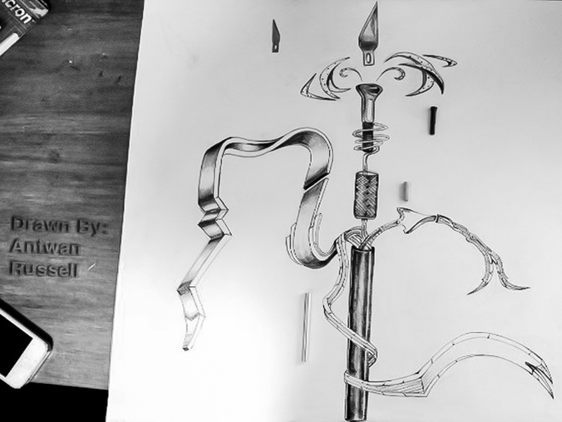Xacto Knife Expression Drawing xacto knife circus exploding knives creative freestyle drawing motion art