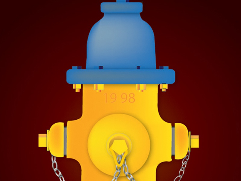 Fire Hydrant Vector Illustration vector fire hydrant logo icons chain illustration red background primary colors meshtool