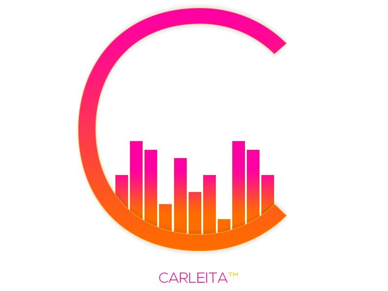 Carleita™ New Official Logo © carleita logo 2015 gradient logo audio pink orange yellow audio logo