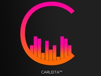 Carleita™ New Official Logo © (black Bg.)