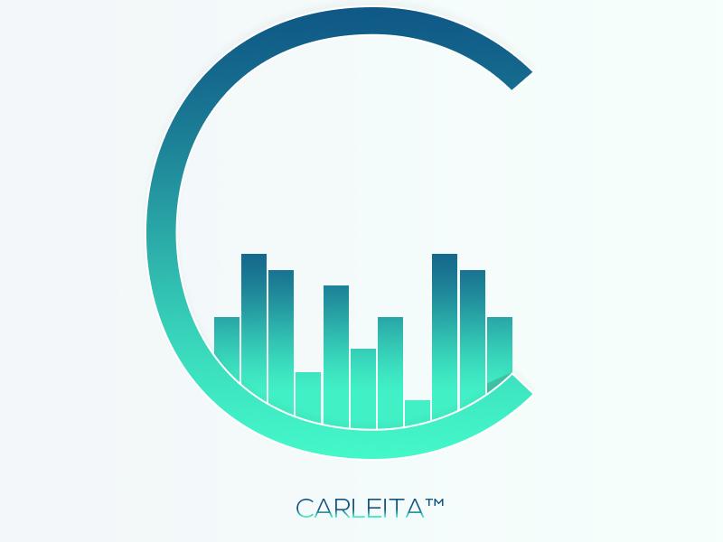 Carleita™ New Official Logo © (Blue Version) carleita logo 2015 gradient logo audio pink blue green neon music audio logo