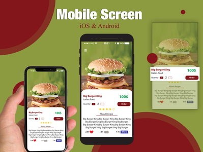 Apps design for iOS & Android
