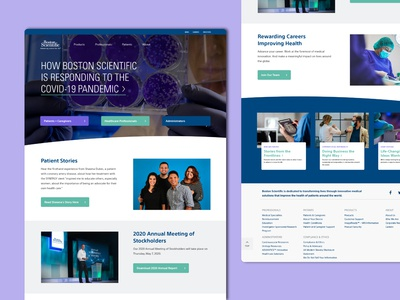 Medical Landing Page dailyui boston scientific hospital page home homepage website landing page research technology medical