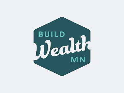 Build Wealth Logo 1 house homeowner home retro vintage hexagonal hexagon financial education finance generational wealth build branding badgehunters design badge logo