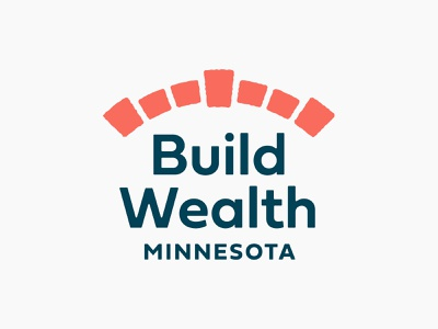 Build Wealth Logo 2 branding designer design logo education financial finance wealth management arc interlock brick brickwork arch bridge path ancestral family generational wealth build