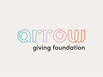 Arrow Giving | Logo 4 aim search true northrock minnesota ashby wordmark logo foundation charity give movement trail loop path pathway forward arrow