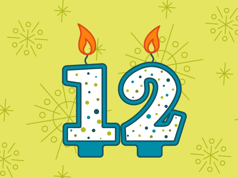 12 Birthday Candles By Josie Adkins