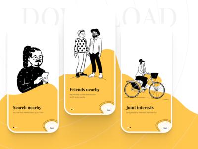 Friend Finder App Mobile ui design appdesign mobile about uxdesign product aplication design appstore app uidesign ux design