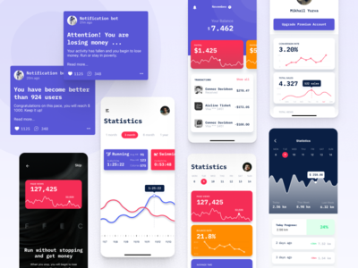 Run UI Kit App Mobile Graphic Diagram Work with numbers appstore appdesign app design ux mobile aplication app design uxdesign ui ux design uikit userinterface interface ux  ui uxui
