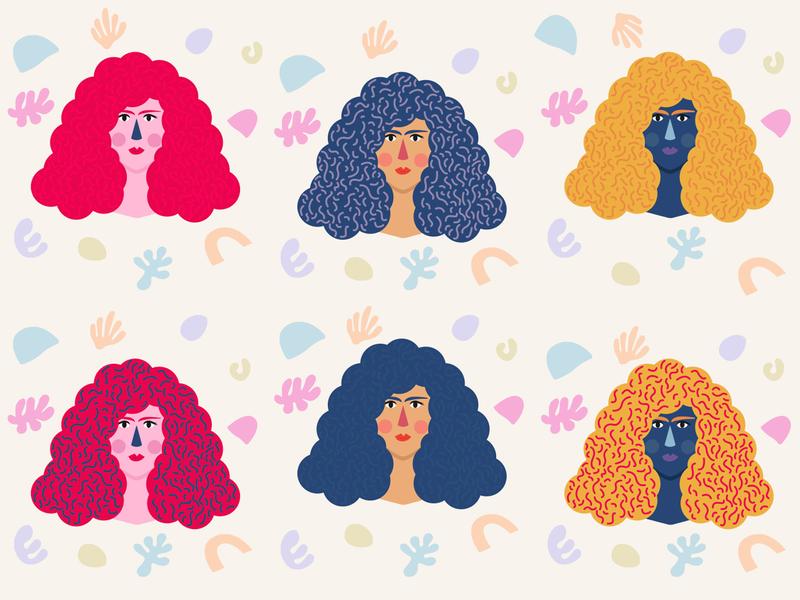 Ladies design minimal lady girl woman illustration girls