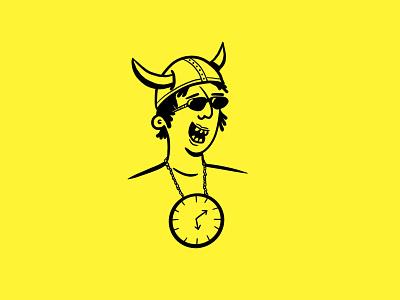 Clock clock character illustration women who draw shaketember