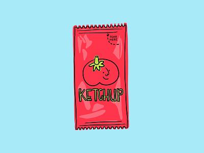 Tomato ketchup doodle procreate tomato shaketember illustration