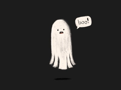 Spooky Ghost scary boo halloween texture shaketember ghost illustration