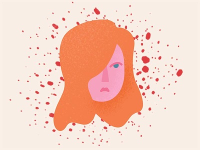 Emotions Series: Anger character illustration texture minimal girl portrait emotions emoji anger