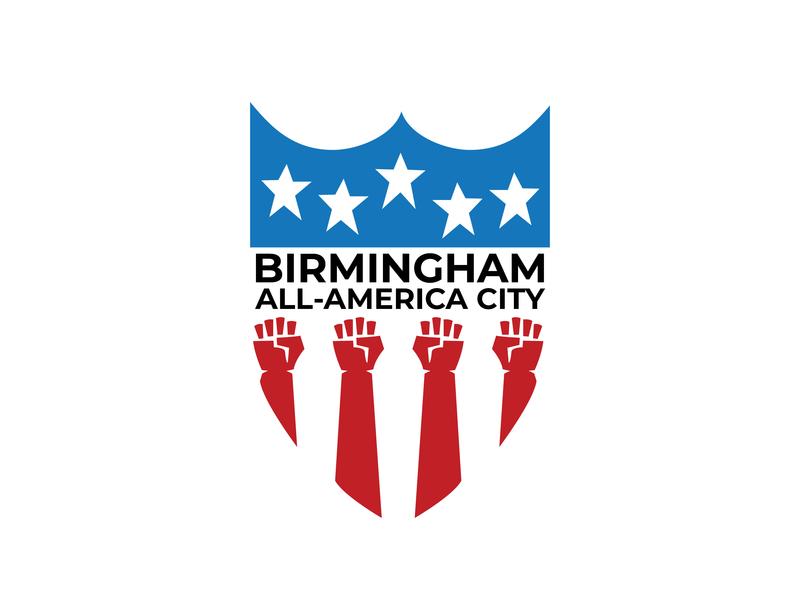 All-America City Inspiration hand star protest shield city america alabama birmingham