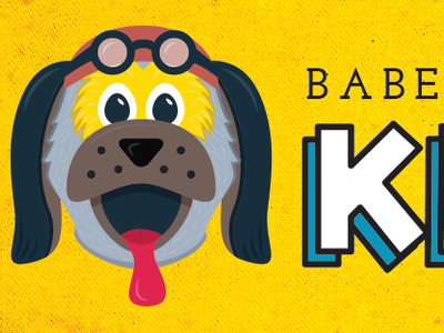 Babe Ruff's Kids Club texture dog kids baseball
