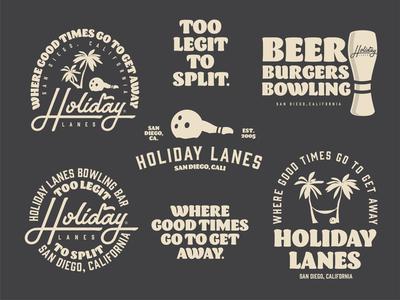 Holiday Lanes Flash Sheet badge design branding logo vector typography lettering design illustration