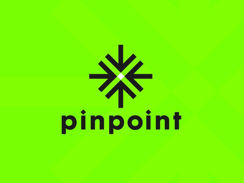 pinpoint Logo mark logotype brand logo design simplify design modern branding design logo branding