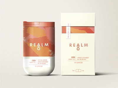 Realm CBD colorful cbd design print design package design modern branding design logo logodesign concept packaging design packaging brand identity