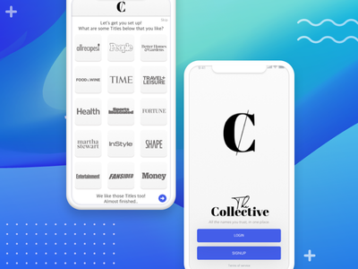 The Collective: By Meredith publishing digitalpublishing digitaldesign uiux prototype lettering visual design ux ui branding uxdesigner design app gradients logo typography productdesign uidesign
