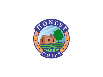 Honest Chips nature retro badge logo chips